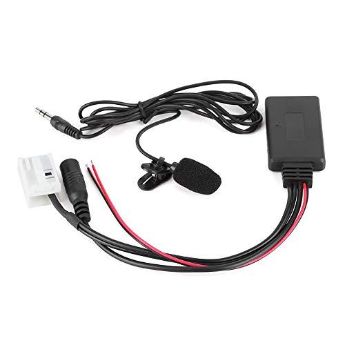 Adaptador auxiliar para automóvil, adaptador de audio duradero, luz práctica, ajuste pequeño para Citroen C2 2005 + / VDO / RD4 Fit Citroen C3 2005 + / VDO / RD4