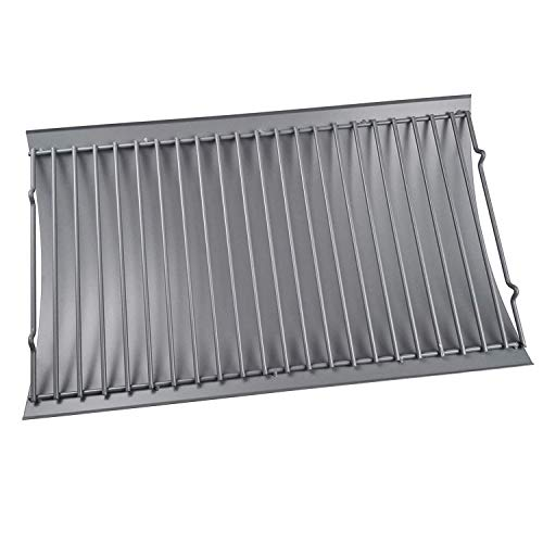 """DcYourHome Griddle Accessoriefor Chargriller 1224, 1324, 2121, 2222, 2727, 2828, 2929, Charbroil 17302056, Grills Drip Pan Grates Replacement Part 27 X 13 1/4"""""""