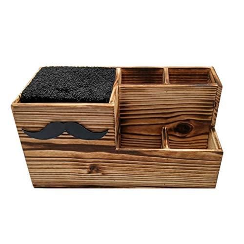 Luxshiny Soporte para tijeras de peluquería, de madera, para peluquería, para peluquería, para escritorio, organizador de escritorio, para salón, oficina en casa