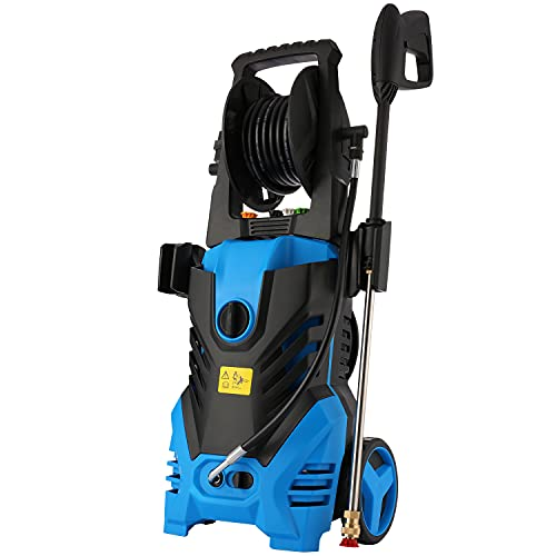 Homdox Electric Pressure Washer Power Washer 2950 PSI 1.7 GPM High Pressure Washer 1800W Professional Power Washer Cleaner with 5 Nozzles (Green)