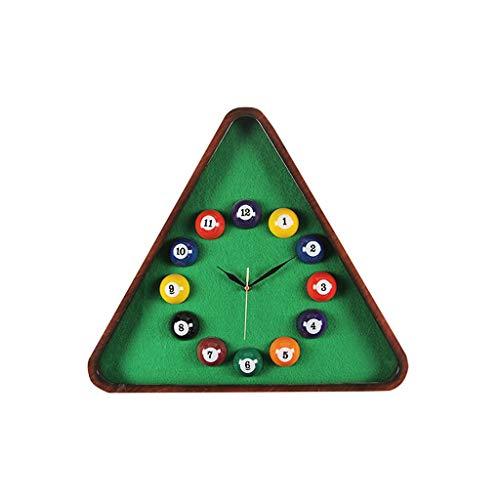 MANLADA-1 Kreative Wanduhr, Dreieck-Form Billard Dekoration Wanduhr Verein Kinderzimmer Wanduhr (Size : 48 * 54cm)