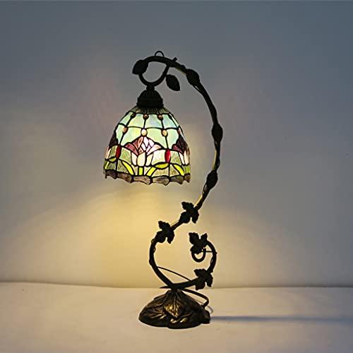 Casa sala de estar dormitorio creativo vidrio pantalla exquisito lámpara de mesa, retro de lujo villa oficina decoración de la oficina de la oficina de la telar (Color : 4)