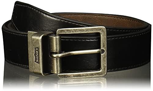 Levi's Cinturón Reversible Levis Cinturón para Hombre, color Negro/Café, 38