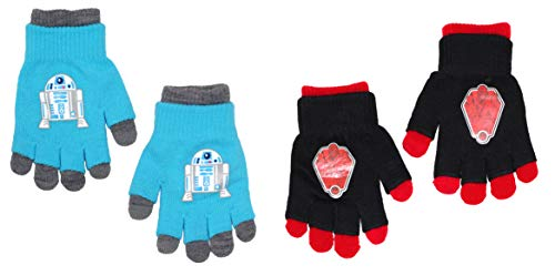 Disney Star Wars Boys Girls Kids Gloves With Removable Liner 2 Pack - 2 Pairs