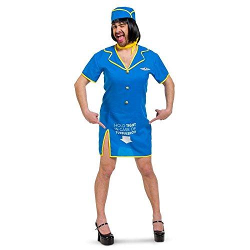 Folat - Disfraz de Auxiliar de Vuelo para Hombre - Talla : XL/XXL