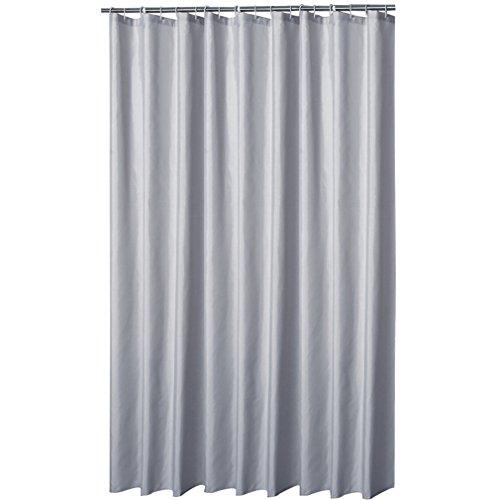 Eanshome Silber Grau Dekorative Anti-Schimmel Textilien Polyester Wasserabweisend Duschvorhang 220x200