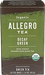 Allegro Tea, Organic Decaf Green Tea Bags, 20 ct