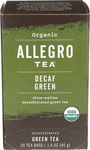 Allegro Tea, Organic Decaf Green Tea Bags, 20 ct