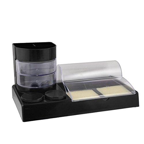 Uxcell - Corrector de goma de borrar para lápices, 9 compartimentos, color negro