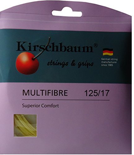 Kirschbaum - Cordaje de Fibras múltiples para Raqueta de Tenis, 1,25 mm x 12 m