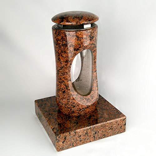 Designgrab Design Petite lampe funéraire avec socle en granit Vanga