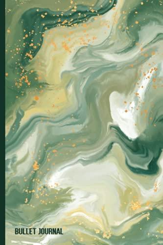 Cuaderno De Puntos A5 Bullet Journal: liberta De Cuadrícula De Puntos 120 Páginas - Dotted Journal/cuaderno De Punteados - Dot Grid Notebook Para ... Dibujar ... Cubierta Mármol verde camuflaje