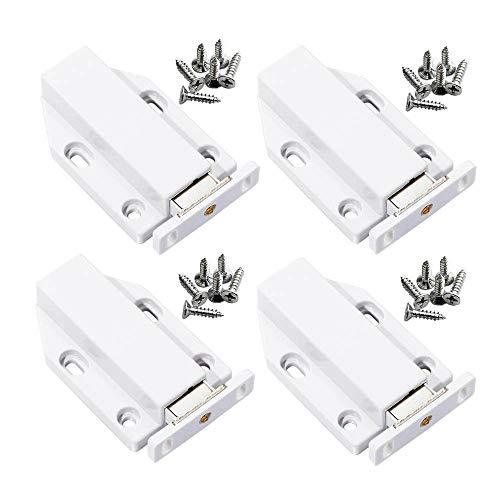Mila-Amaz 4 Pcs Sistema Push para Puerta de Mueble Damper Buffer Push To Open System Cierres Magnéticos para Puerta de Armario Cocina