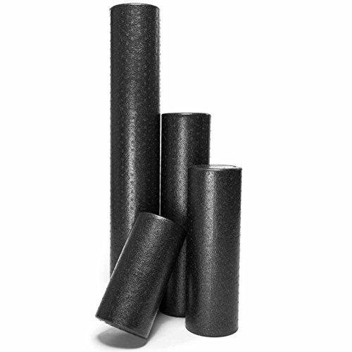 #DoYourFitness Rullo per Trattamento miofasciale, Foam Roll »Andhera«, Rullo di Schiuma per praticare efficacemente automassaggi, Disponibile in Nero in 4 Lunghezze da 30 a 90 cm.