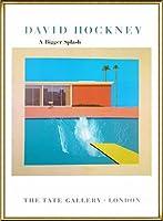 ポスター デビット ホックニー A Bigger Splash 1967 額装品 アルミ製ハイグレードフレーム(ゴールド)