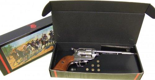 Unbekannt Denix Replica Kavallerie Colt Peacemaker 34 cm + Patronen im Geschenkset