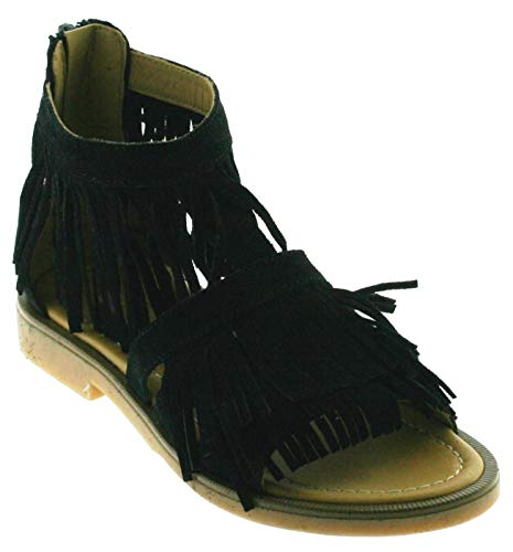Momino Mädchen Sandale 3931VD, ab Gr. 33, Farbe:Nero, Größe:39 EU