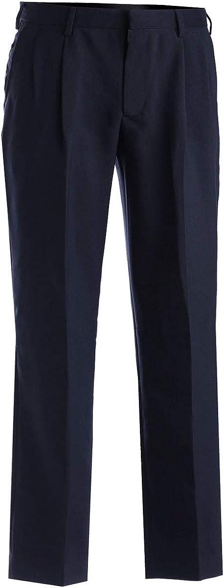 Edwards Garment Men's Comfort Casual Wrinkle Resistant Pant, Dark Navy, 34 26