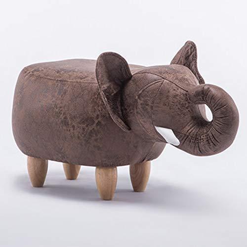 APcjerp Elefante Sala de Cambiar Sus Zapatos Almacenamiento de Las heces Taburete Creativo Sofá Taburete Heces de la Historieta (Color: Marrón) Hslywan (Color : Brown)
