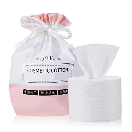 Toallas de papel de algodón, toallitas secas de algodón puro, toallitas de algodón secas, toallas desechables para quitar el maquillaje, adecuadas para pieles sensibles, portátiles 5 unidades