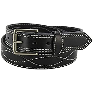 Men's Leather Belt – Figure 8 Stitched – Heavy Duty Premium Belts