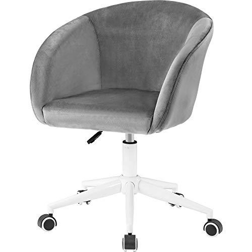 Silla de escritorio de terciopelo, silla de oficina con brazos, cojín de lujo para oficina en casa, silla giratoria