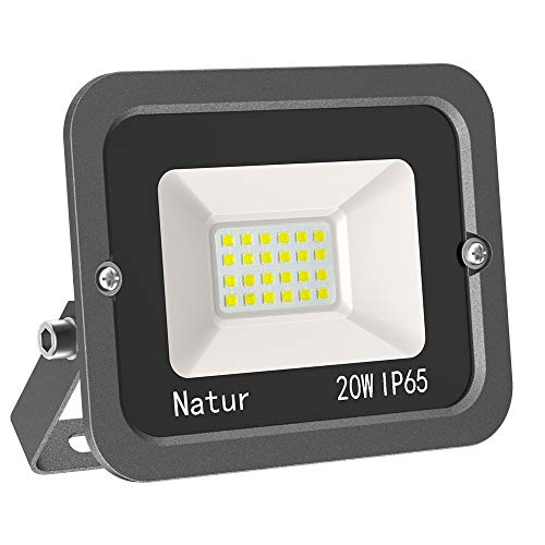 20W LED Foco Exterior Alto Brillo Proyector Led Impermeable IP65 Blanco Frío 6000K Floodlight Led Foco Exterior Iluminación...