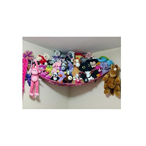 Huijukon - Amaca portaoggetti per animali morbidi ripieni, 182,9 x 121,9 x 121,9 cm, colore: rosa