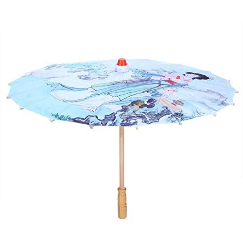 01 Regenschirm basteln, Foto Requisiten Regenschirm Liebevoll gestaltete Details für Fotoshootings für Kostümdramen für Bühnenshows(02, S, Blau)