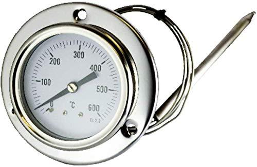 CATOCCIMACCHINE TERMOMETRO per Forno, Forno A Legna, Barbecue 0-600°C con SONDA