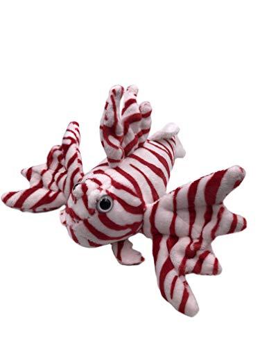 Onwomania Peluche Animal de Peluche pez león pez Rayado 22 cm