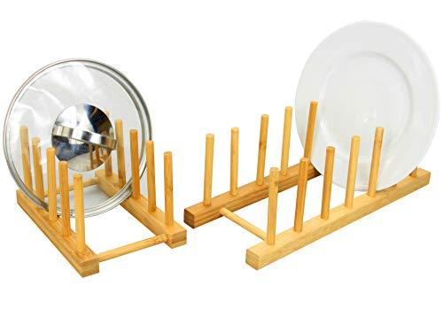 Woodquail - Set di 2 Porta Piatti, realizzato in Legno di Bambù