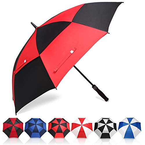 Eono by Amazon - Grand Parapluie de Golf, 58 inch, à Double Voilure et Ouverture Automatique,...