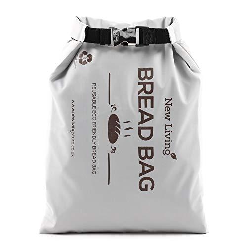 New Living Sac à pain de congélation   Sac de rangement alimentaire   Polyester recyclé sans BPA   Maintient le pain plus longtemps   40 x 27 cm