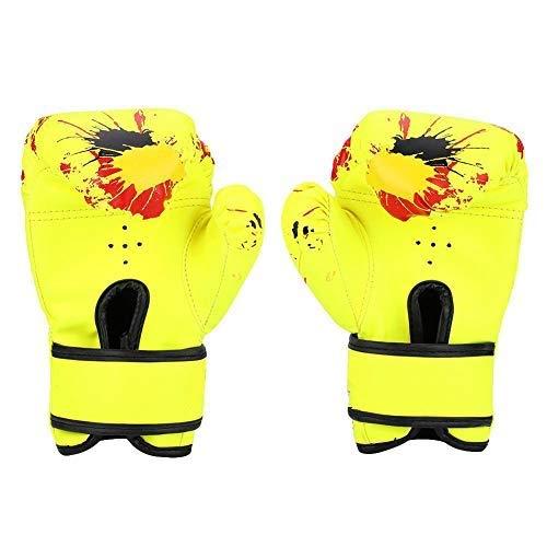 Boxhandskar för barn, Muay Thai Combat-handskar, Punching Bag Sparring Mitts for Baby Girls Boys Kids (Yellow)
