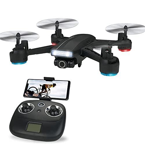 FPV RC Drone 120 ° Telecamera grandangolare WiFi Quadcopter Mantenimento dell'altitudine, Modalità senza testa, Capovolgimento 3D, Decollo/atterraggio con una chiave, Mantenimento dell'altitudine M