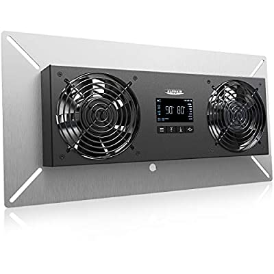 ALORAIR Crawl space Basement Ventilator Fan, VentirPro-S2 with Temperature Humidity Controller, Timing Cycle, Speed Control, for attic, garage, shed, crawl space, basements, 240CFM (Air-out)