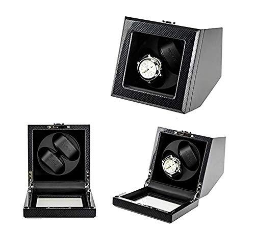 SCJ Agitador de Motor automático de Clase Alta Soporte de enrollador de Reloj Exhibición de Relojes de joyería Caja enrolladora de Reloj mecánico Caja de bobinado para Regalos de cumpleaños-B1