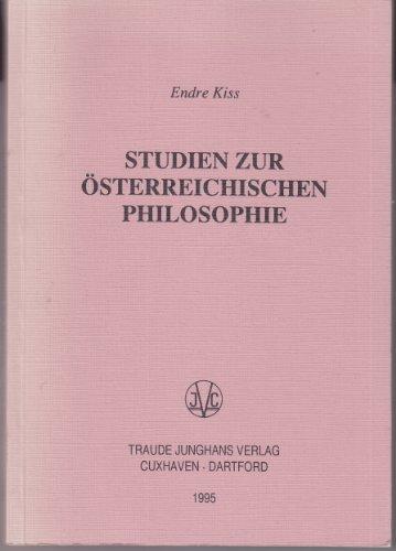 Studien zur österreichischen Philosophie