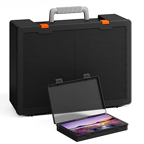 Extra Large 4 x 6 Photo Storage Boxes, Barhon 18 Inner Acid-free Photo Cases...