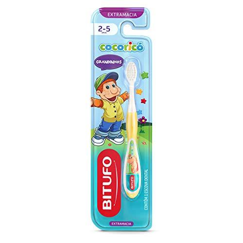 Escova de Dente Infantil Bitufo Cocoricó Grandinhos Ultramacia para 2 a 5 anos, Bitufo