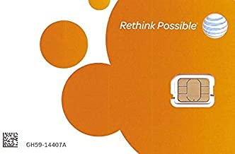 AT&T Nano Sized SIM Card for iPhone 5s, 6, 7, 8, and Ipad Air, with iPhone Eject PIN tool