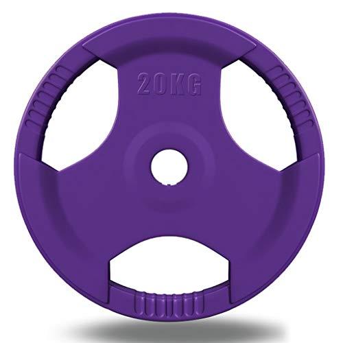 Placas de pesas de plástico con diseño ergonómico para pesas y pesas en casa, para hacer ejercicio en el gimnasio o el equipo de pesas (color: 40 kg (20 kg x 2)
