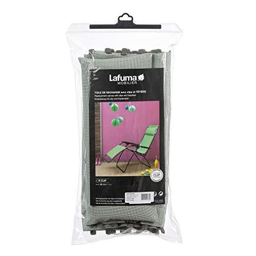 LAFUMA MOBILIER Toile Batyline avec têtière pour relax R Clip, Couleur : Tilleul, LFM2841-9268