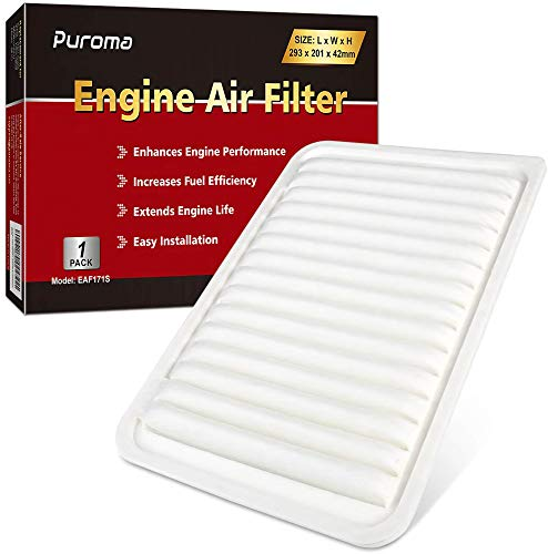 Puroma 1 Pack Replacement for Toyota Rigid Panel Engine Air Filter, CA10171, GP171, Camry Gas L4 (2007-2017), Venza Gas L4 (2009-2015)