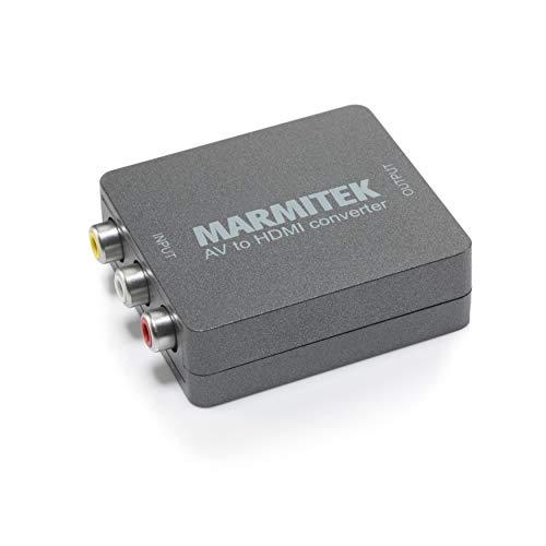 Adattatore da RCA a HDMI - Marmitek Connect AH31 - 1080p Full HD - Nessun Software Richiesto - Composito - SCART - PAL - NTSC - Adattatore AV HDMI - Collega i Vecchi Dispositivi ai Nuovi Televisori