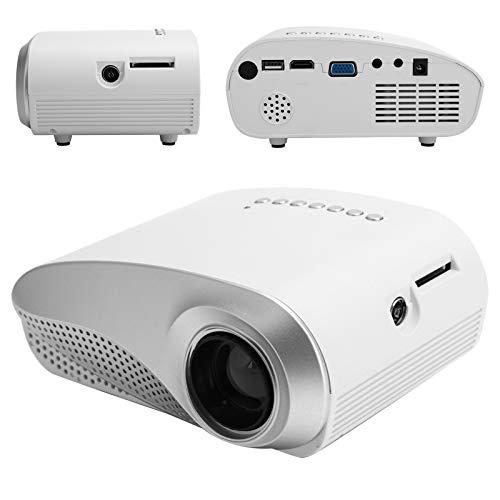Proyector HD 1080P, Mini proyector LCD Bluetooth compatible con AV, HDMI, VGA, Tarjeta de memoria, USB, Proyector para exteriores con teléfono inteligente / tableta / computadora portátil / PS3 (eu)