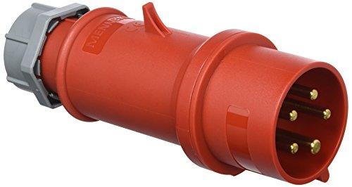 Mennekes 101200154Klinke EWG Pro Top, Steckdosen, 400V, 50–60Hz, 32A, 5-polig, IP 44, 10Verpackung, rot