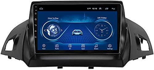 RAXST Android 9 Navegador GPS para Ford Kuga 2013-2017 Car Stereo 9 Pulgadas Bluetooth con Canbus Soporta WiFi Mirror Link Control Volante,4 Cores 1+16G WiFi