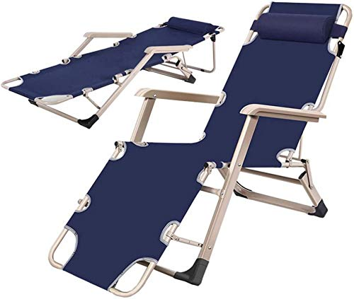 MFLASMF Productos para el hogar Silla reclinable Plegable al Aire Libre Sillón de jardín Tumbona de jardín Tumbona de Sol Tumbona reclinable con reposacabezas para Oficina Camping Playa Pi